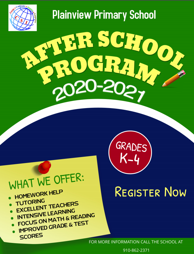 Register Now for After School Tutoring!