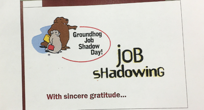 Thank you card for hosting job shadowing