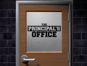 Principal's office door