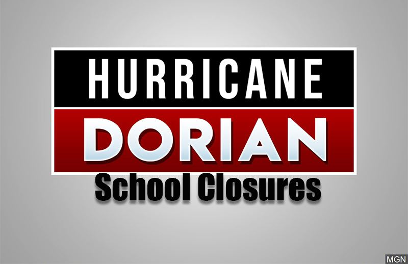 Hurricane Dorian school closings