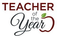 apple logo of teacher of the year