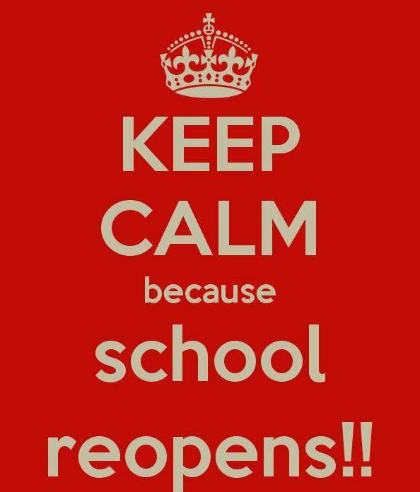 Schools to reopen Monday, September 9, 2019